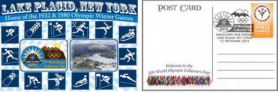 Olympic postcard, both sides