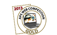 2013 APS Website Gold Medal Award logo