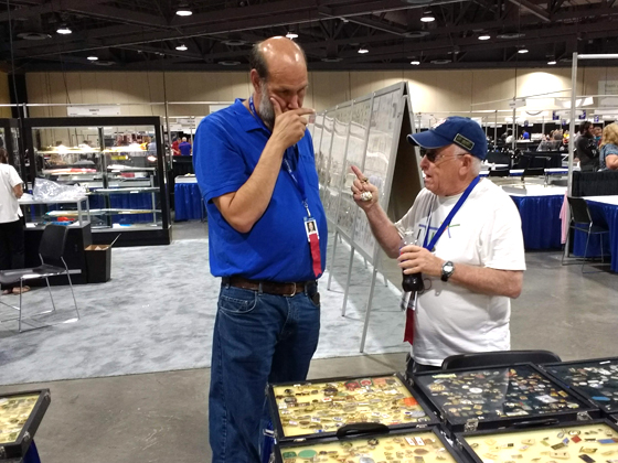 D. Presburger and S. Marantz doing some pin trading