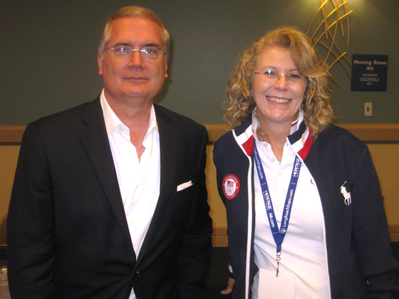 US Olympic Museum CEO, C. Liedel, and T. Hedgpeth